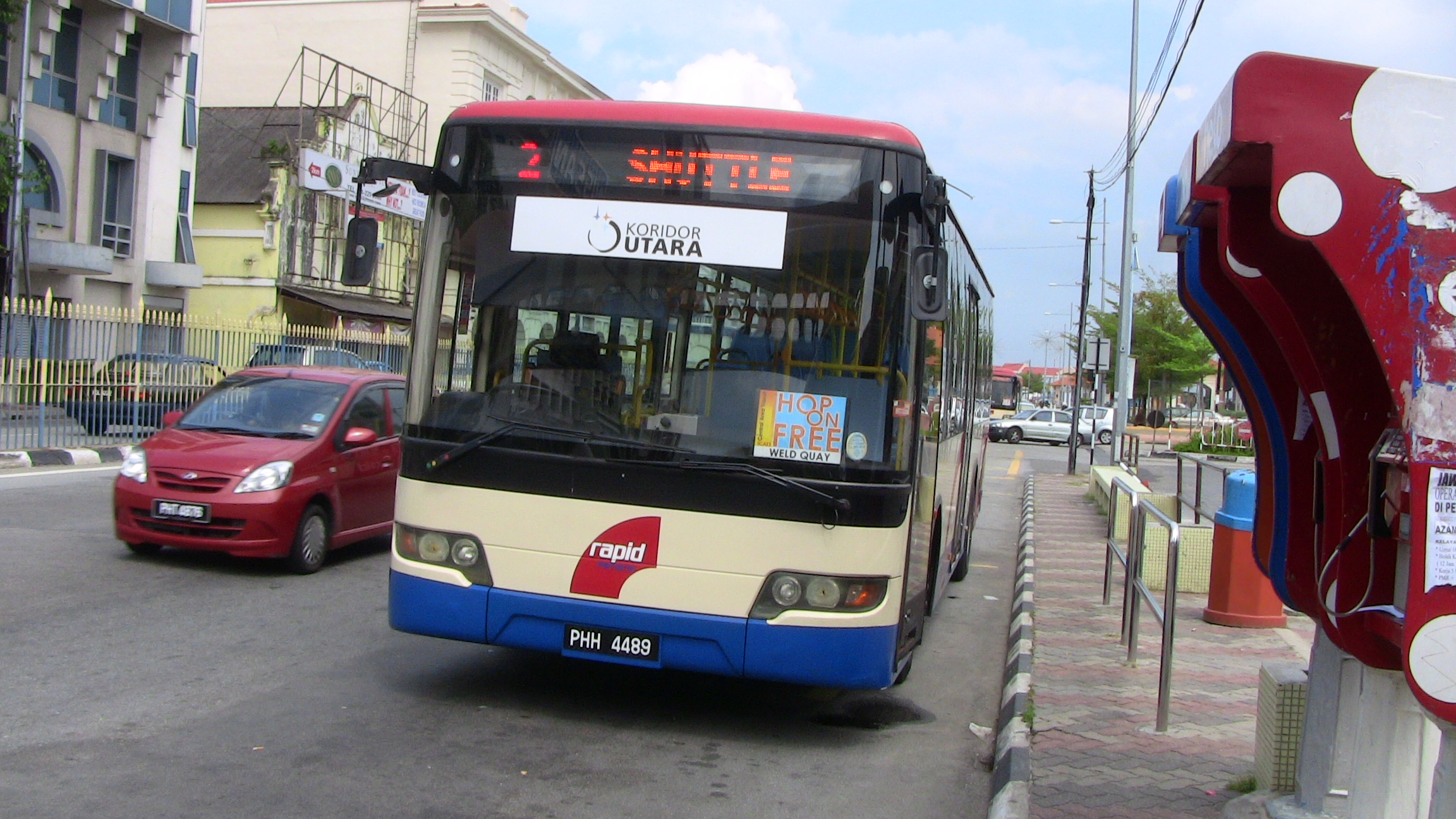ペナン島のフリーシャトルバス