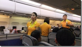 Cebu Pcific Airlines の機内