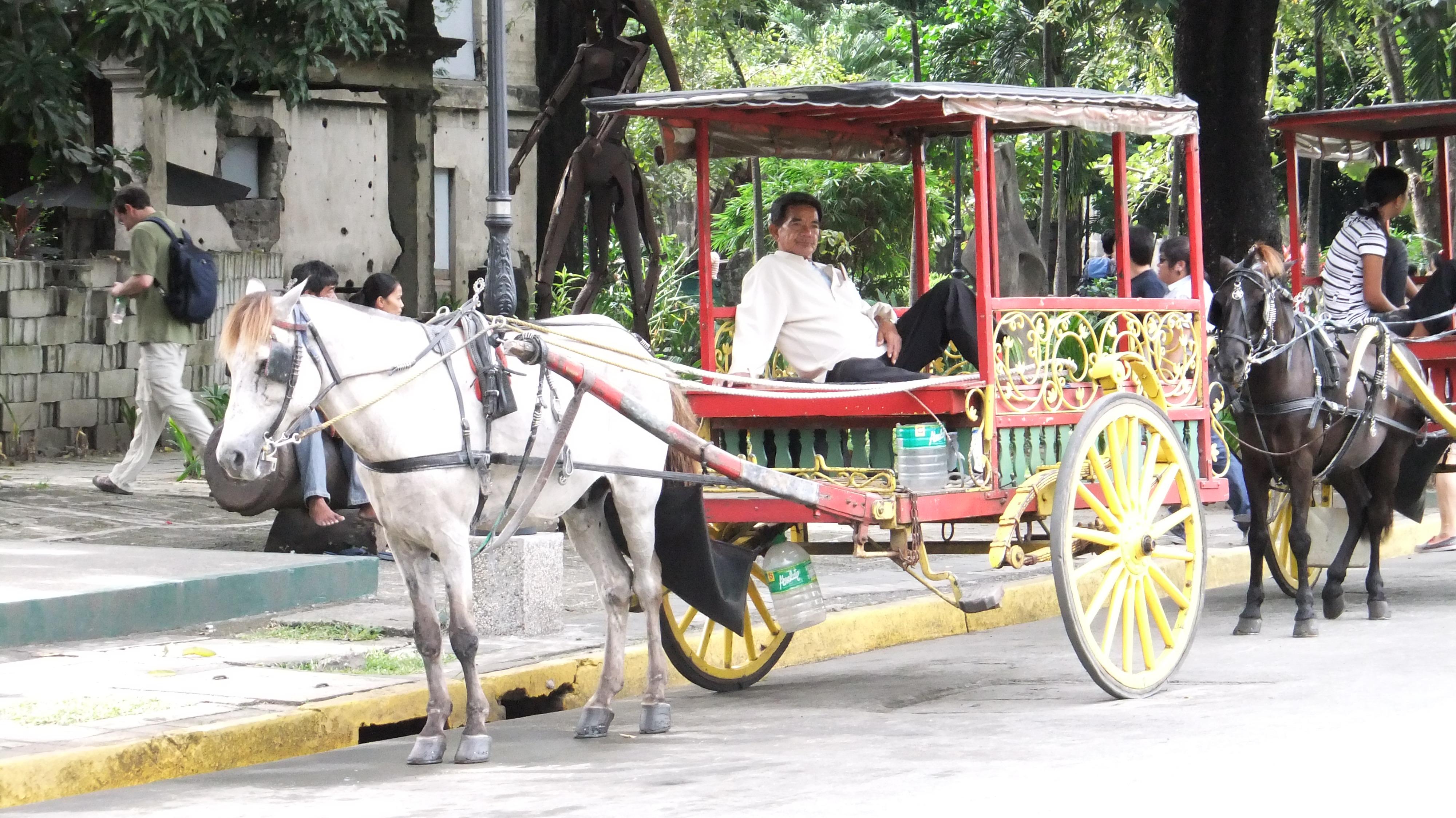 フィリピン名物の馬車カレッサ