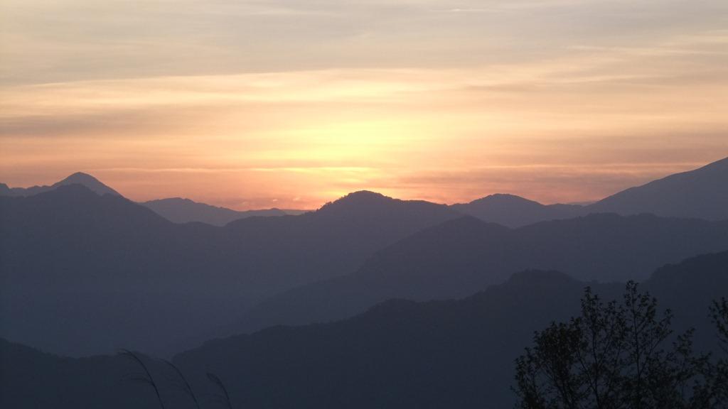 祝山からのご来光(日の出前)