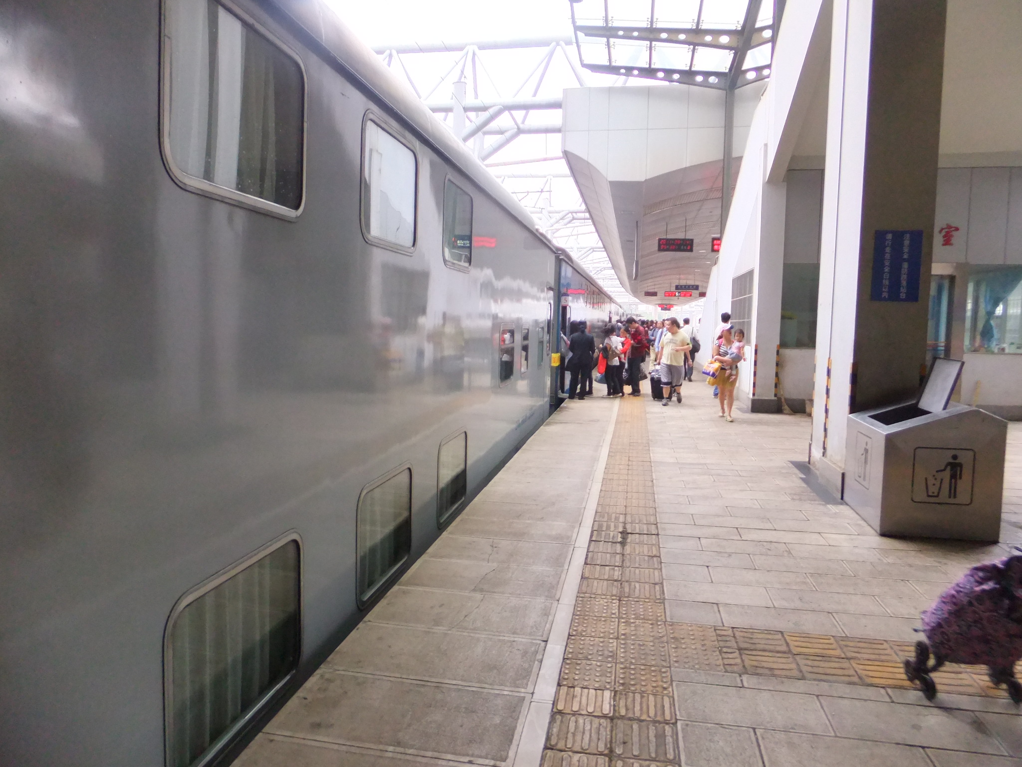昆明から麗江までの寝台列車