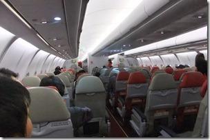 エアアジアの機内