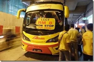 KLIAからKL市内へのシャトルバス