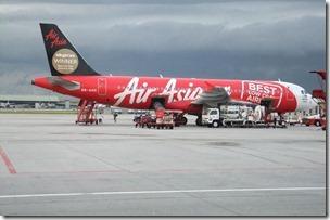 エアアジアの赤い機体