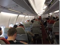 エアアジアの機内後部の数列は2人がけ席