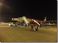 クアラルンプールに到着のエアアジア機