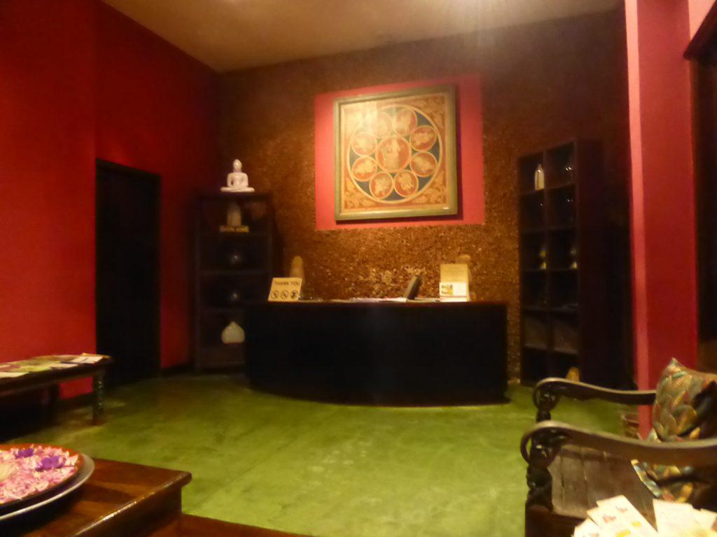 アーユルヴェーダの施術室