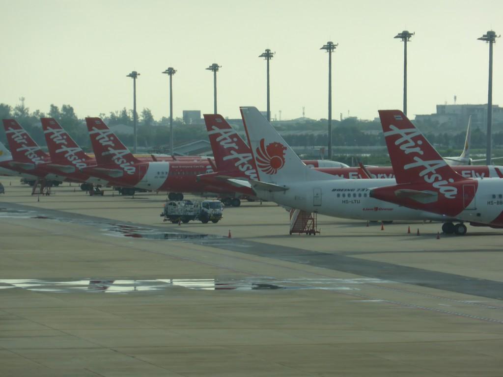 ドンムアン空港へ到着