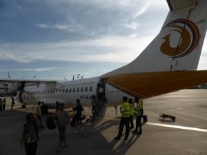 マンダレー空港に到着