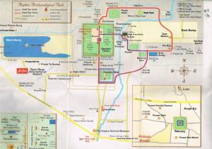 アンコール遺跡公園マップ