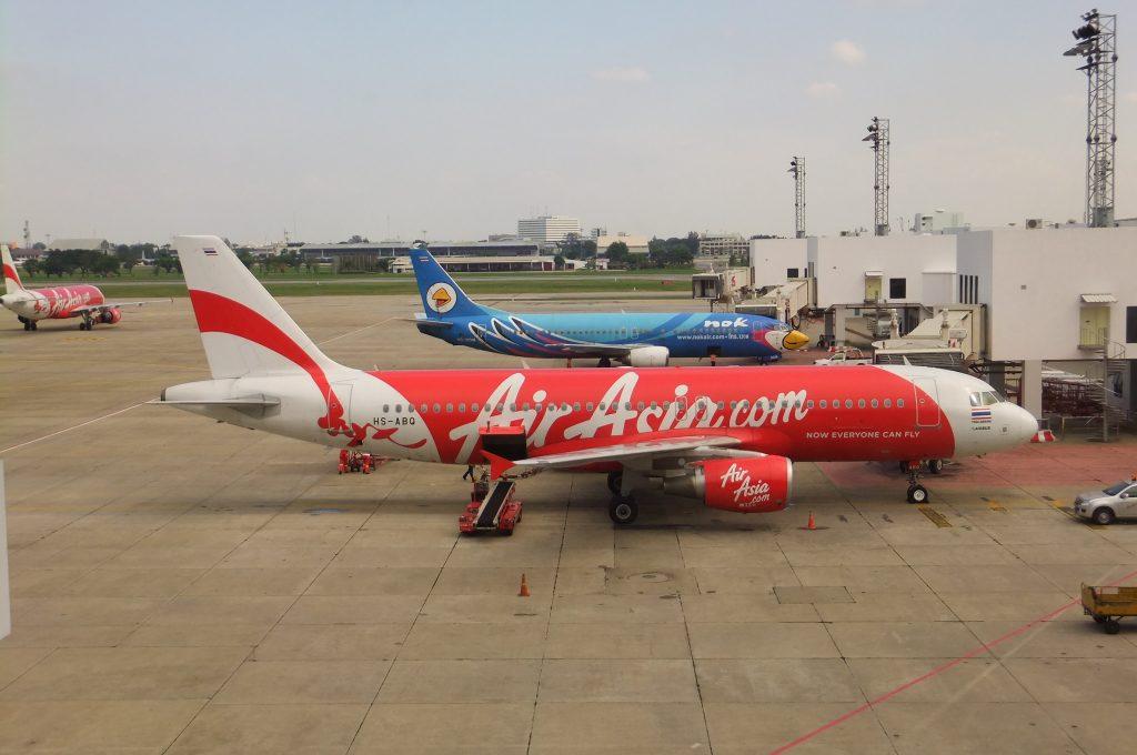 バンコクからピサヌロークへのLCCは、エアーアジア、ノックエアーなど