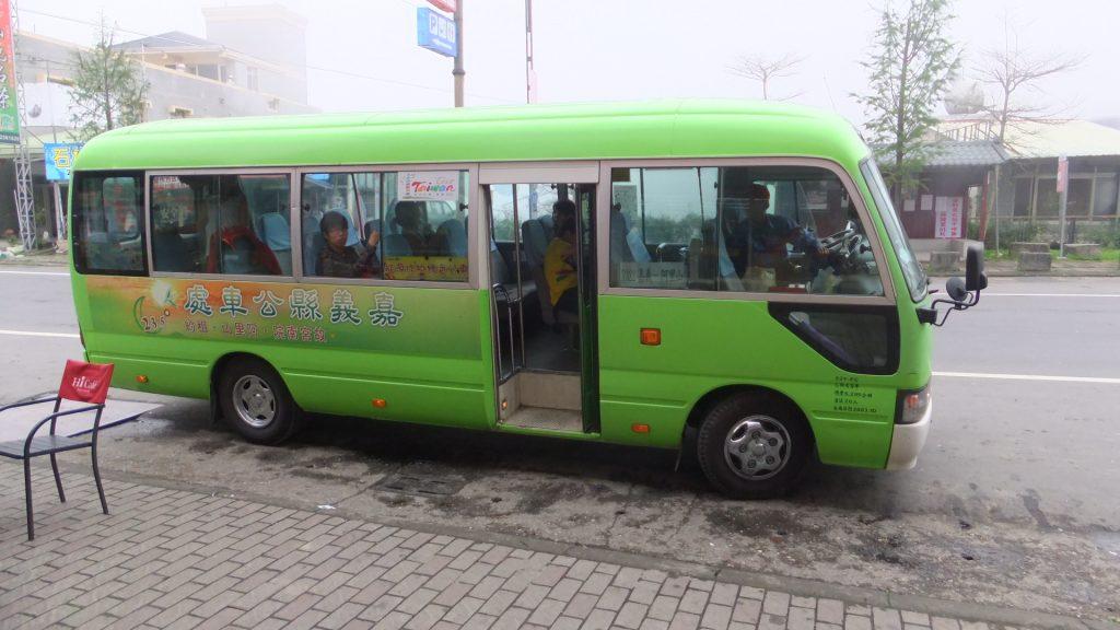 嘉義から出ている阿里山行きバス