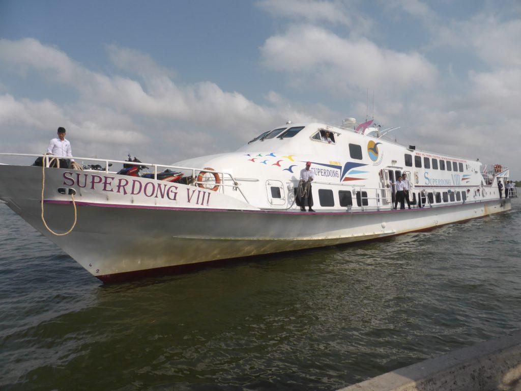 フーコック島へのスピードボート