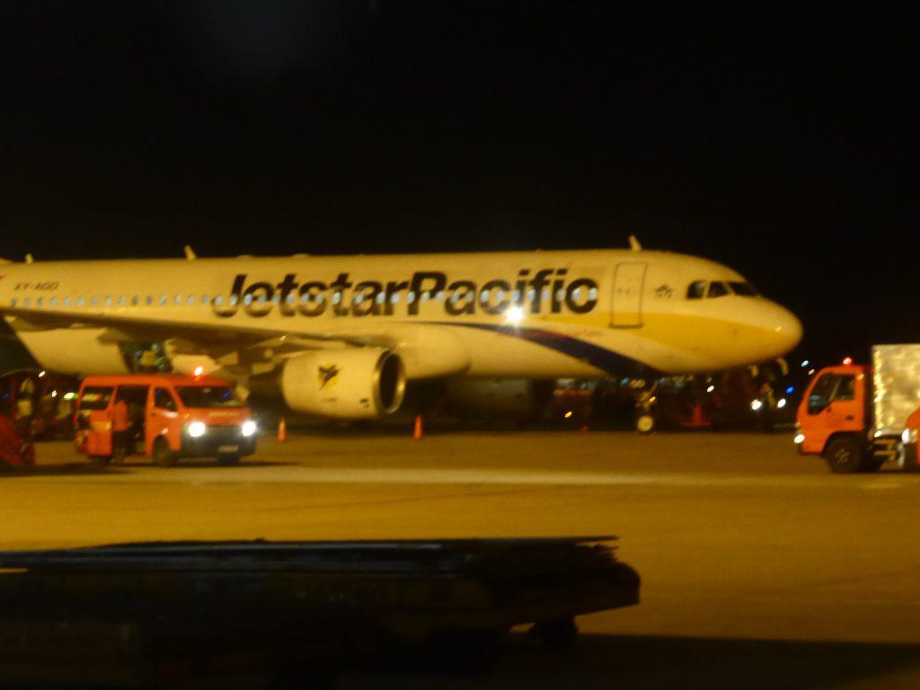 機体に不備がありキャンセルとなったジェットスターパシフィック。