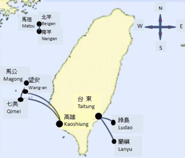 徳安航空ルートマップ