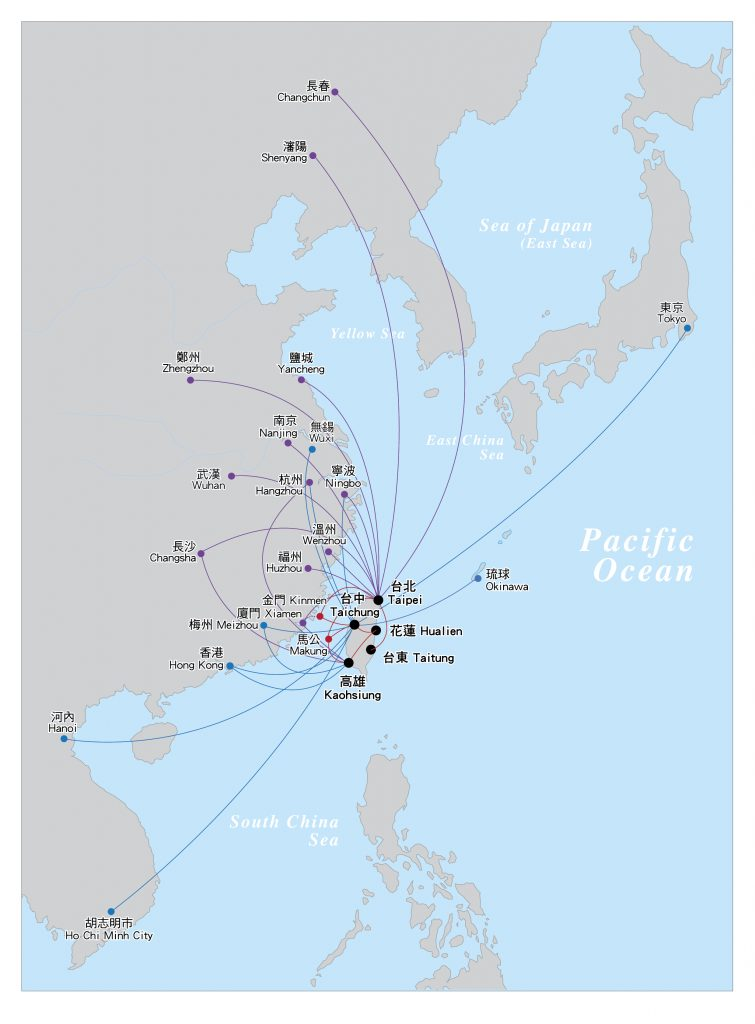 Mandarin Airlines Route Map